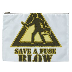Save A Fuse Blow An Electrician Cosmetic Bag (xxl)  by FunnyShirtsAndStuff
