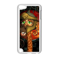 Funny Giraffe With Helmet Apple Ipod Touch 5 Case (white) by FantasyWorld7