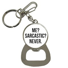 Me Sarcastic Never Button Necklaces by FunnyShirtsAndStuff