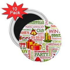 The Joys Of Christmas 2 25  Magnets (10 Pack)  by AllThingsEveryone