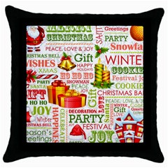 The Joys Of Christmas Throw Pillow Case (black) by AllThingsEveryone