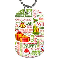 The Joys Of Christmas Dog Tag (one Side) by AllThingsEveryone