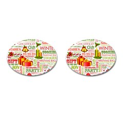 The Joys Of Christmas Cufflinks (oval) by AllThingsEveryone