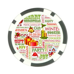 The Joys Of Christmas Poker Chip Card Guard by AllThingsEveryone