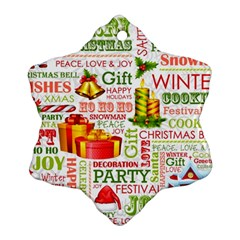 The Joys Of Christmas Snowflake Ornament (two Sides) by AllThingsEveryone