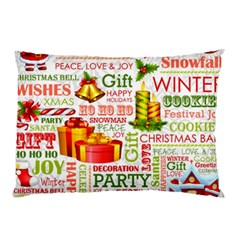 The Joys Of Christmas Pillow Case (two Sides) by AllThingsEveryone