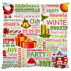 The Joys Of Christmas Large Cushion Case (two Sides) by AllThingsEveryone