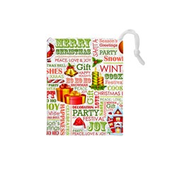 The Joys Of Christmas Drawstring Pouches (small)  by allthingseveryone