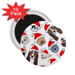Christmas Puppies 2 25  Magnets (10 Pack)  by AllThingsEveryone