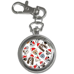Christmas Puppies Key Chain Watches by AllThingsEveryone