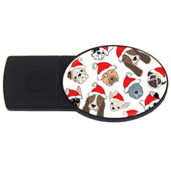 Christmas Puppies Usb Flash Drive Oval (2 Gb) by AllThingsEveryone