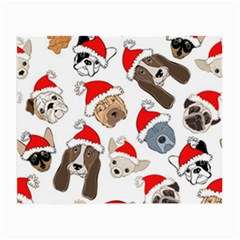 Christmas Puppies Small Glasses Cloth by AllThingsEveryone
