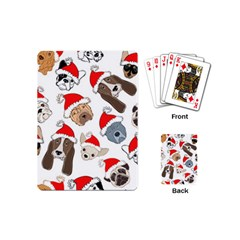 Christmas Puppies Playing Cards (mini)  by AllThingsEveryone