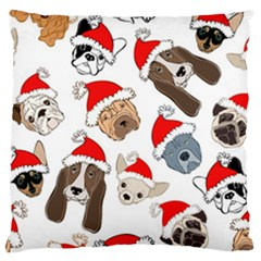 Christmas Puppies Large Cushion Case (one Side) by AllThingsEveryone