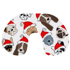 Christmas Puppies Travel Neck Pillows by allthingseveryone