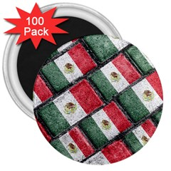 Mexican Flag Pattern Design 3  Magnets (100 Pack) by dflcprints