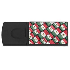 Mexican Flag Pattern Design Rectangular Usb Flash Drive by dflcprints
