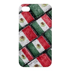 Mexican Flag Pattern Design Apple Iphone 4/4s Premium Hardshell Case by dflcprints