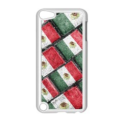 Mexican Flag Pattern Design Apple Ipod Touch 5 Case (white) by dflcprints