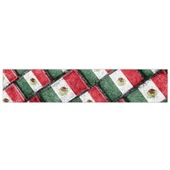 Mexican Flag Pattern Design Small Flano Scarf by dflcprints