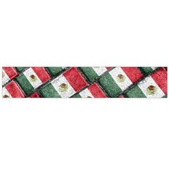 Mexican Flag Pattern Design Large Flano Scarf  by dflcprints