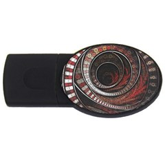 The Thousand And One Rings Of The Fractal Circus Usb Flash Drive Oval (4 Gb) by beautifulfractals