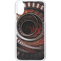 The Thousand And One Rings Of The Fractal Circus Apple Iphone X Seamless Case (white)