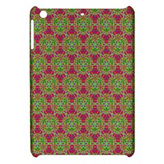 Red Green Flower Of Life Drawing Pattern Apple Ipad Mini Hardshell Case by Cveti
