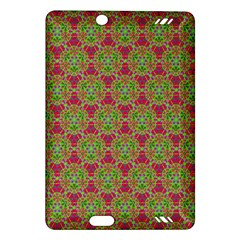 Red Green Flower Of Life Drawing Pattern Amazon Kindle Fire Hd (2013) Hardshell Case by Cveti