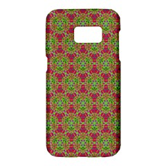 Red Green Flower Of Life Drawing Pattern Samsung Galaxy S7 Hardshell Case  by Cveti