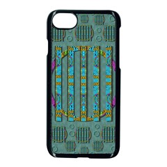 Freedom Is Every Where Just Love It Pop Art Apple Iphone 7 Seamless Case (black) by pepitasart