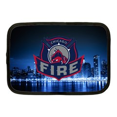 Chicago Fire With Skyline Netbook Case (medium)  by allthingseveryone