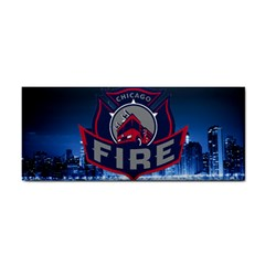 Chicago Fire With Skyline Cosmetic Storage Cases by AllThingsEveryone