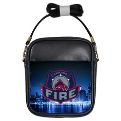 Chicago Fire With Skyline Girls Sling Bags by AllThingsEveryone