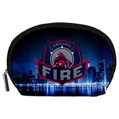 Chicago Fire With Skyline Accessory Pouches (large)  by allthingseveryone