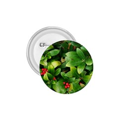 Christmas Season Floral Green Red Skimmia Flower 1 75  Buttons by yoursparklingshop