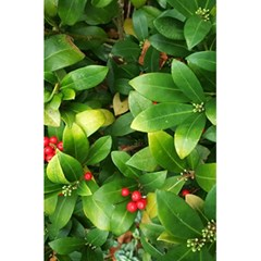 Christmas Season Floral Green Red Skimmia Flower 5 5  X 8 5  Notebooks by yoursparklingshop