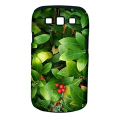 Christmas Season Floral Green Red Skimmia Flower Samsung Galaxy S Iii Classic Hardshell Case (pc+silicone) by yoursparklingshop