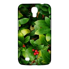 Christmas Season Floral Green Red Skimmia Flower Samsung Galaxy Mega 6 3  I9200 Hardshell Case by yoursparklingshop
