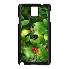 Christmas Season Floral Green Red Skimmia Flower Samsung Galaxy Note 3 N9005 Case (black) by yoursparklingshop