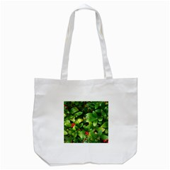 Christmas Season Floral Green Red Skimmia Flower Tote Bag (white) by yoursparklingshop