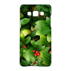 Christmas Season Floral Green Red Skimmia Flower Samsung Galaxy A5 Hardshell Case  by yoursparklingshop