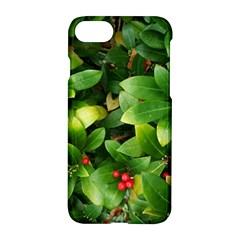 Christmas Season Floral Green Red Skimmia Flower Apple Iphone 7 Hardshell Case by yoursparklingshop