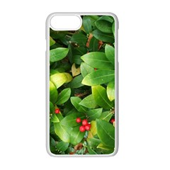 Christmas Season Floral Green Red Skimmia Flower Apple Iphone 7 Plus Seamless Case (white) by yoursparklingshop