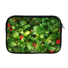 Christmas Season Floral Green Red Skimmia Flower Apple Macbook Pro 17  Zipper Case by yoursparklingshop
