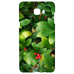 Christmas Season Floral Green Red Skimmia Flower Samsung C9 Pro Hardshell Case  by yoursparklingshop