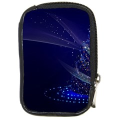 Christmas Tree Blue Stars Starry Night Lights Festive Elegant Compact Camera Cases by yoursparklingshop