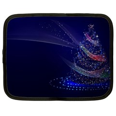 Christmas Tree Blue Stars Starry Night Lights Festive Elegant Netbook Case (xxl)  by yoursparklingshop