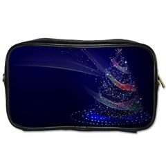 Christmas Tree Blue Stars Starry Night Lights Festive Elegant Toiletries Bags 2 Side by yoursparklingshop