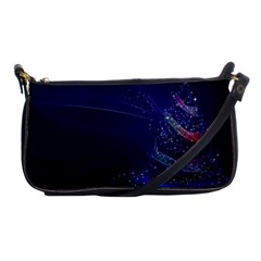 Christmas Tree Blue Stars Starry Night Lights Festive Elegant Shoulder Clutch Bags by yoursparklingshop